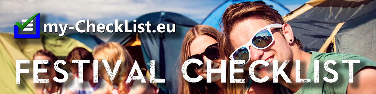Festival Checkliste